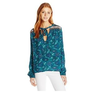 Billabong Bird's on High Blouse, Small, NWT